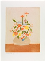 wildflowers in vase, from small cuts, 1954/2008 by alex katz