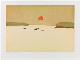 sunset cove, from small cuts, 1957/2008 by alex katz