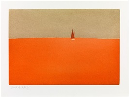 red sails, from small cuts, 1959/2008 by alex katz