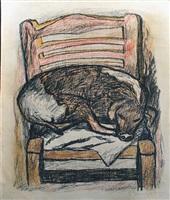 perro durmiendo (sleeping dog) by rufino tamayo
