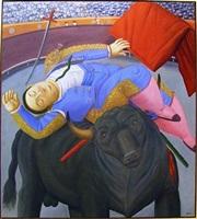 la cornada / muerte de curro cruz by fernando botero