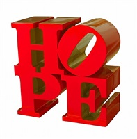 hope red-gold by robert indiana
