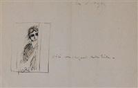 gitane - 'voici le croquis de la toile' by kees van dongen