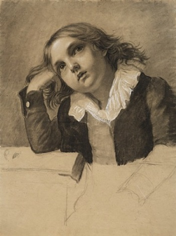 portrait de jeune garçon accoudé by pauline auzou
