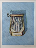 sardines by wayne thiebaud