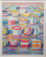 display rows by wayne thiebaud