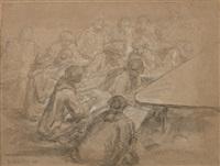 l'académie de dessin by gabriel jacques de saint-aubin