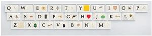 a b c art (low relief): (keyboard) by john baldessari