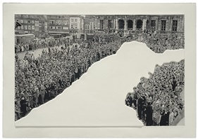 crowds with shape of reason missing: 1, 2012 by john baldessari