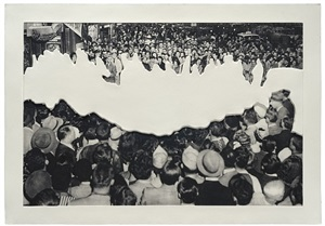 crowds with shape of reason missing: 2 by john baldessari
