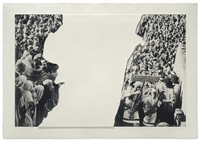 crowds with shape of reason missing: 3 by john baldessari