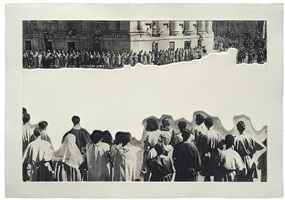 crowds with shape of reason missing: 4 by john baldessari