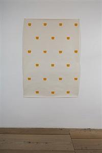 papier dessin, impronte di pennello nº 50 a intervalli di 30 cm by niele toroni