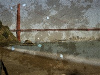 tent camera image on ground- view of the golden gate bridge from kirby cove by abelardo morell