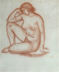 study for 'the thought' or 'the mediterranean' / etude pour 'la pensee' ou 'la méditerranée' by aristide maillol