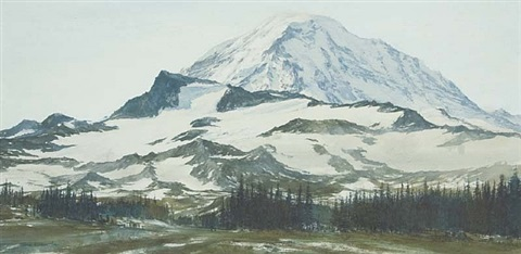 rainier morning by thomas william jones