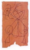 femme oiseau by joan miró