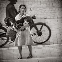 mother and child, málaga, spain, 1966 by jerome liebling
