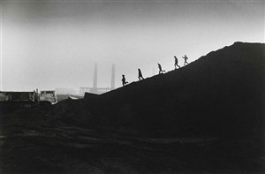 the consett steel mill, (kids of coal slag heap), county durham by don mccullin