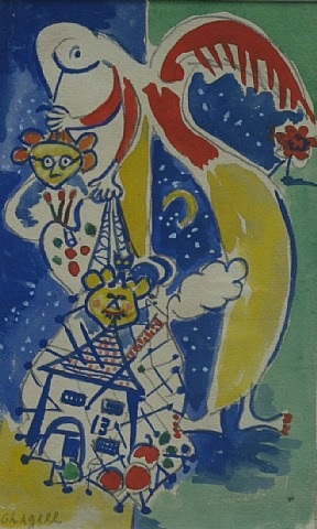 composition after chagall by jacob bornfriend