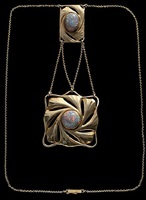 fine secessionist necklace by paul peter pfeiffer