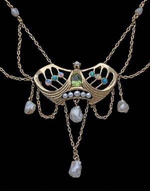 jugendstil necklace