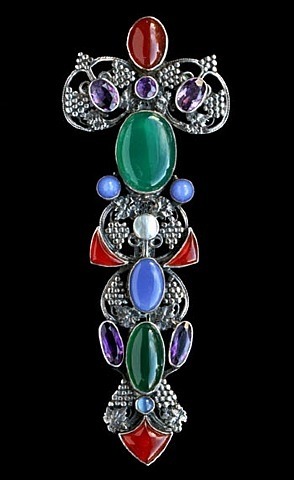 impressive celtic sceptre brooch by amy sandheim