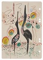 untitled (heron) by sigmar polke