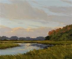 afternoon at fence creek (sold) by carolyn walton