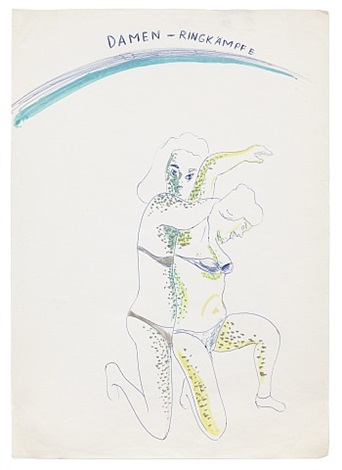 damen-ringkämpfe (ladies wrestling) by sigmar polke