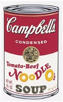 tomato-beef noodle o's, from campbell's soup ii(f. & s. ii.61) by andy warhol