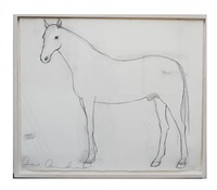 untitled drawing of a horse by joe andoe