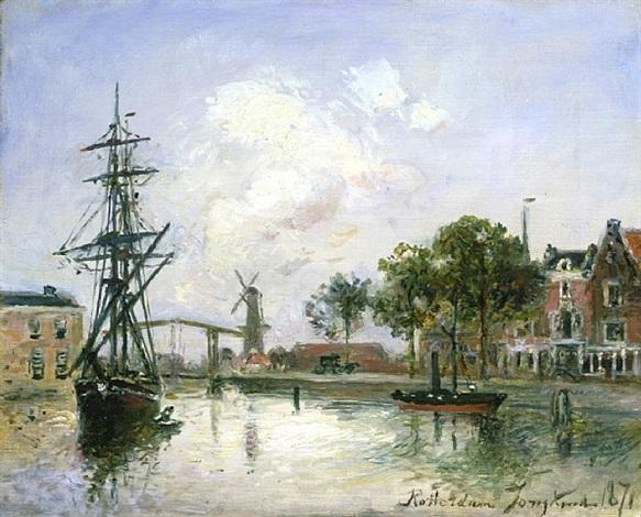 entrée du port, rotterdam by johan barthold jongkind