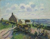 paysage à mortain by gustave loiseau