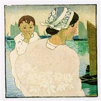 bretonin mit kind by carl moser