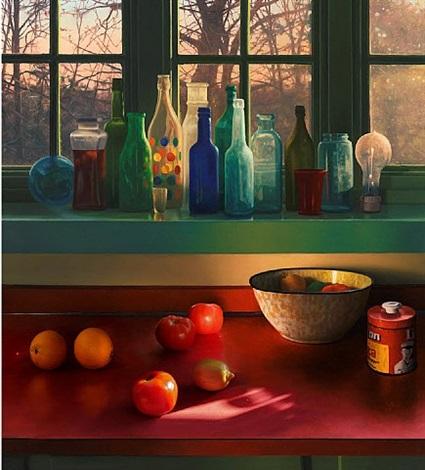 bottles in kitchen window by scott prior