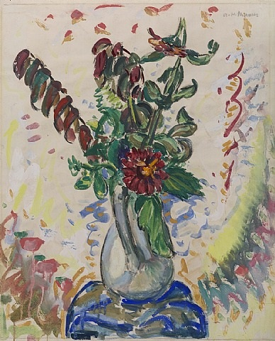 flowers: in white pitcher by alfred henry maurer