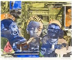 12 trains-deadhead-no passengers by romare bearden