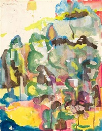 the gorge by romare bearden
