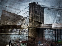rooftop view of the brooklyn bridge by abelardo morell