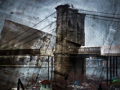 rooftop view of the brooklyn bridge by abelardo morell