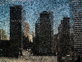 rooftop view of midtown manhattan looking east by abelardo morell