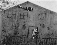laura and brady in the shadow of our house by abelardo morell