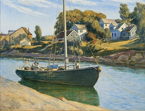 inlet at ogunquit, maine by clarence k. chatterton