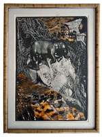 black elephant by peter beard