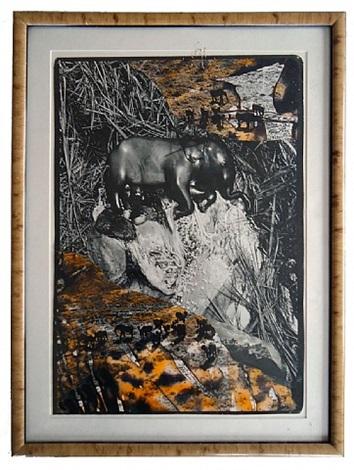 black elephant by peter beard