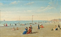 the beach at normandy (a pair) by conrad wise chapman