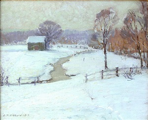 belmont in winter by aldro thompson hibbard