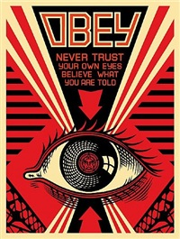 never trust your own eyes by shepard fairey