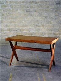 table de lecture by pierre jeanneret